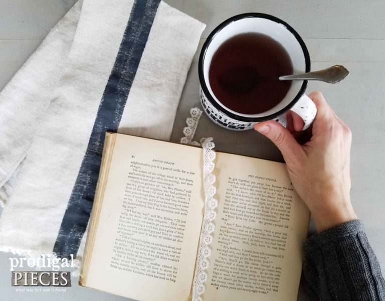 Sipping Tea Vignette by Prodigal Pieces | prodigalpieces.com