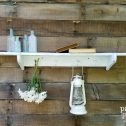 Vintage Wooden Coat Rack with Shelf available at Prodigal Pieces | prodigalpieces.com