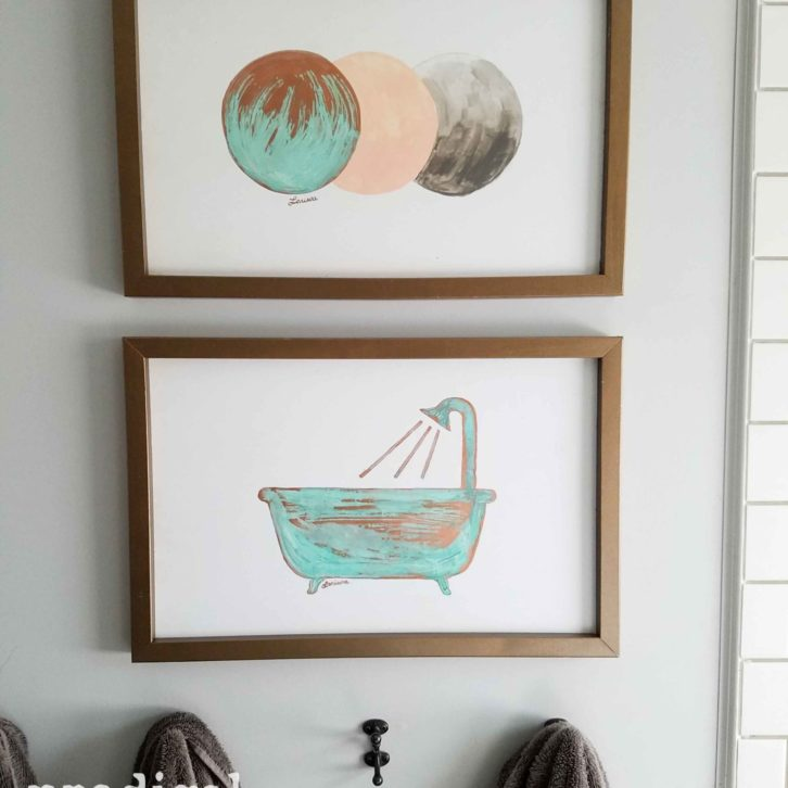 DIY Copper Modern Chic Wall Art made from Upcycled Bed Rails by Prodigal Pieces | prodiglapieces.com