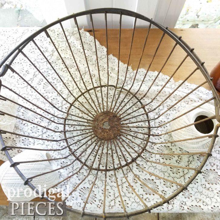 Inside of Antique Egg Basket | prodigalpieces.com