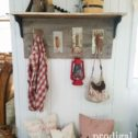 Rustic farmhouse trowel coat rack made from reclaimed wood by Prodigal Pieces | Available at prodigalpieces.com
