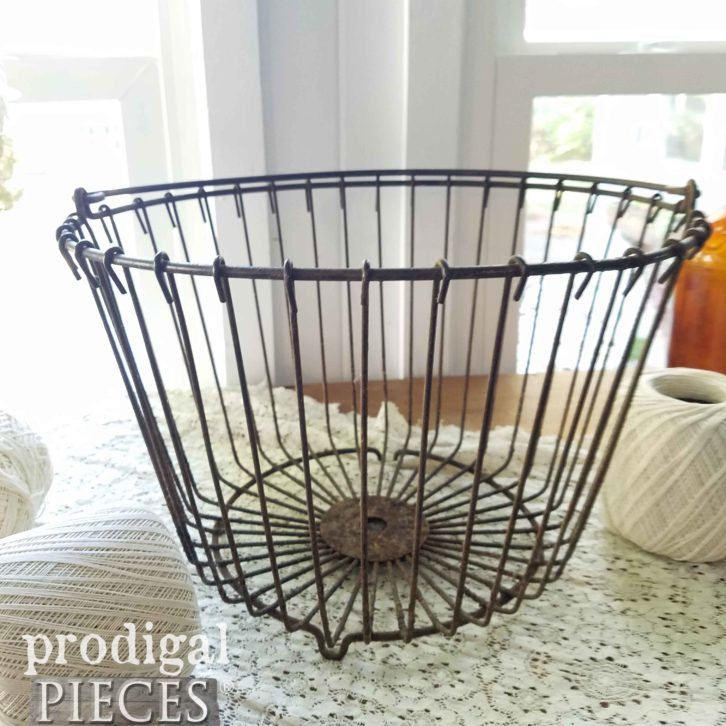 Farmhouse Wire Egg Basket available at Prodigal Pieces | prodigalpieces.com