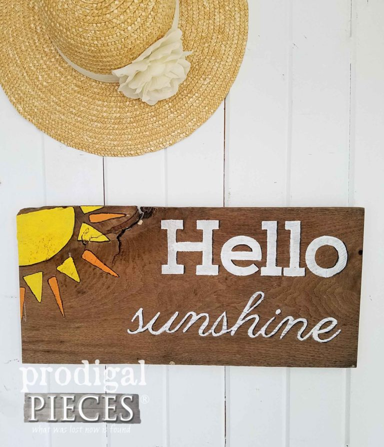 Reclaimed Hello Sunshine Wall Art by Prodigal Pieces | prodigalpieces.com