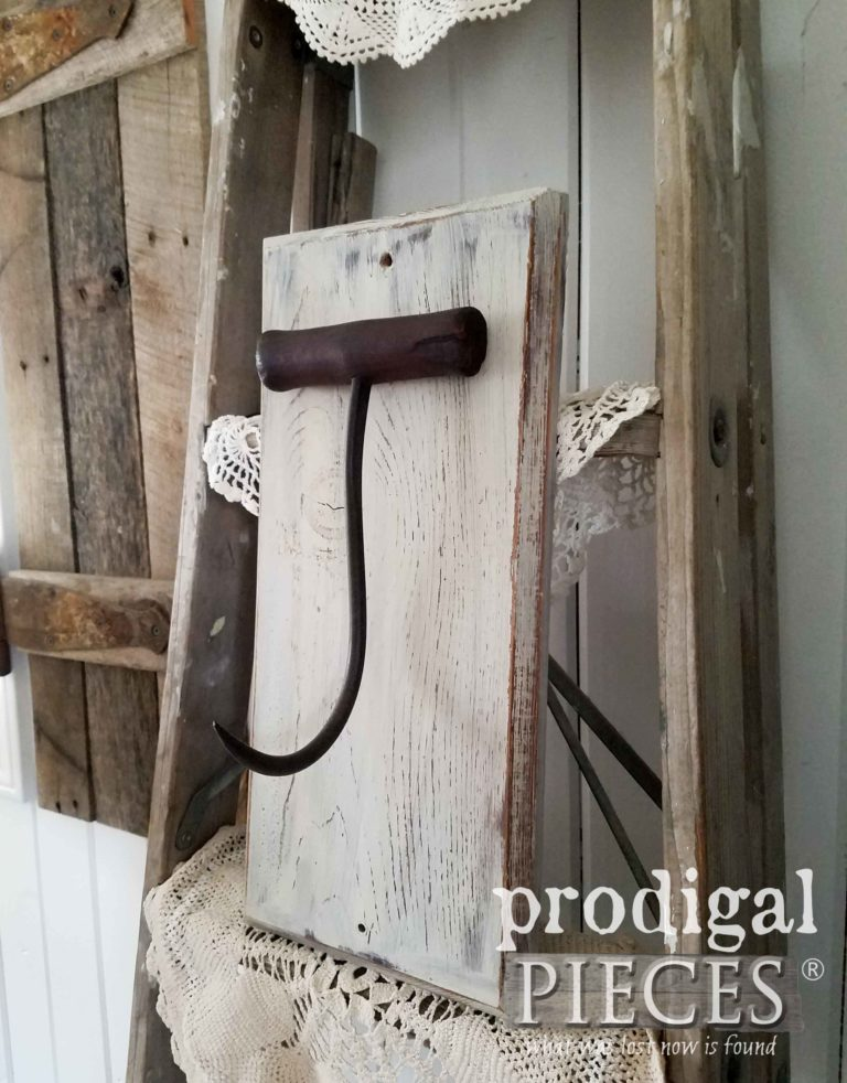 Reclaimed Farmhouse Hay Bale Hook Sconce | prodigalpieces.com