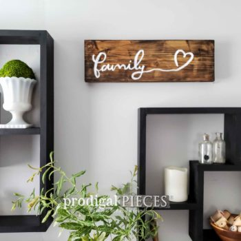 Rustic Farmhouse Family Sign | Handmade Decor Available at Prodigal Pieces | shop.prodigalpieces.com
