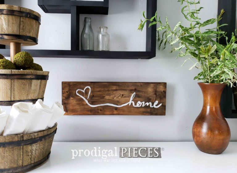 Rustic Farmhouse Home Sign | Handmade Decor Available at Prodigal Pieces | shop.prodigalpieces.com