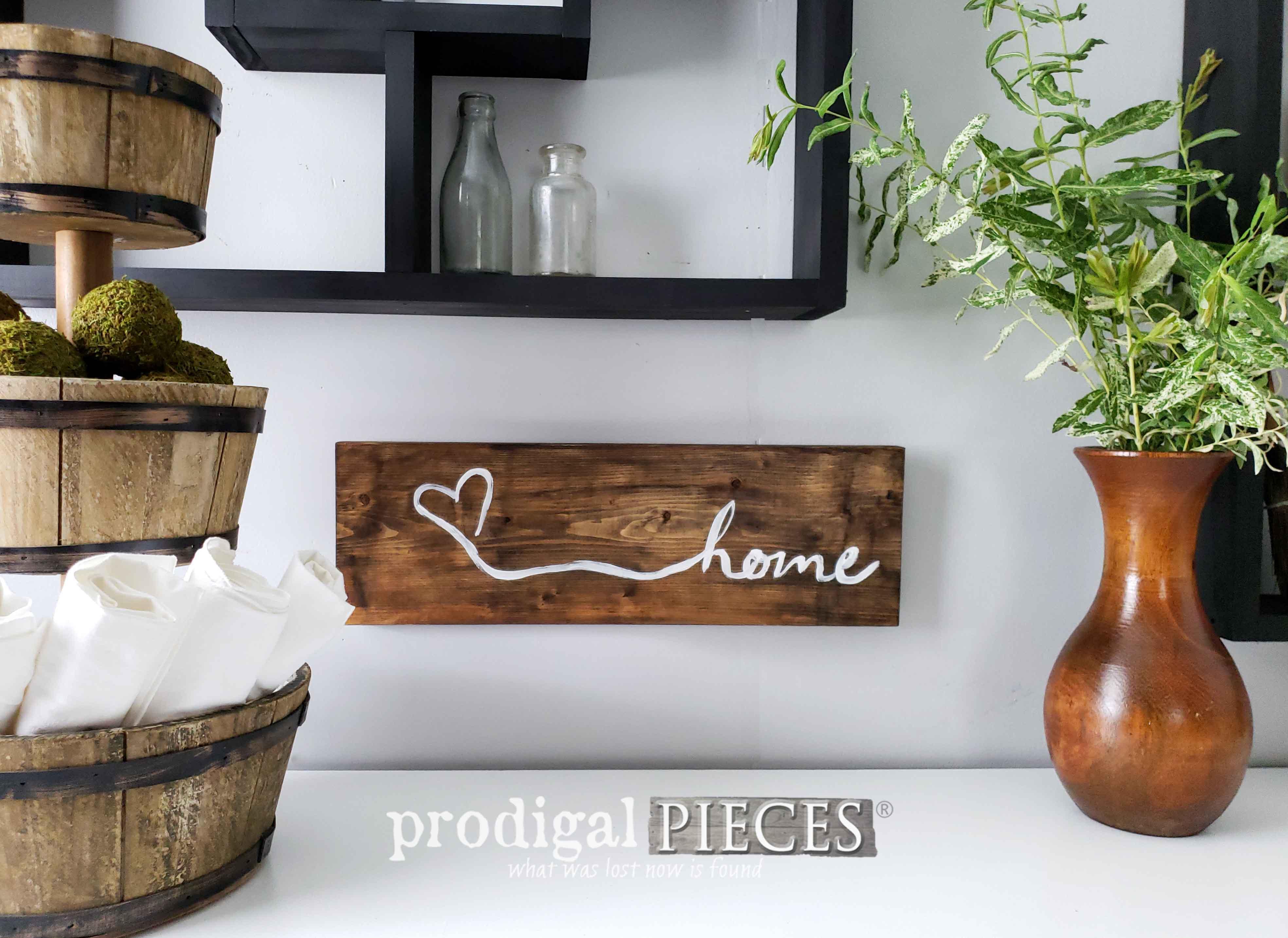 Rustic Farmhouse Home Sign   Handmade Decor Available at Prodigal Pieces   shop.prodigalpieces.com