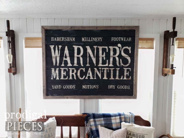 Antique Farmhouse Style Store Sign by Larissa of Prodigal Pieces | shop.prodigalpieces.com