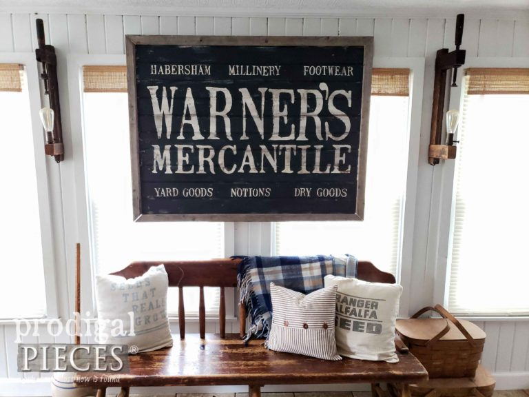 Large Farmhouse Antique Store Sign for your Home Decor | Available at shop.prodigalpieces.com