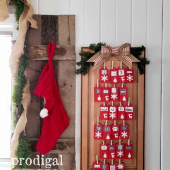 Handmade Rustic Christmas Advent Calendar with Daily Blessings Tags | Holiday Home Decor Available at Prodigal Pieces | shop.prodigalpieces.com