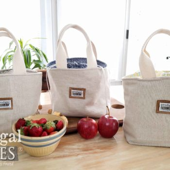 Handmade Farmhouse Style Linen Lunch Bags by Larissa of Prodigal Pieces | shop.prodigalpieces.com