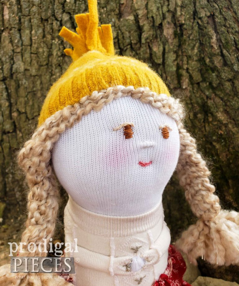 Blond Sock Doll | Handmade by Prodigal Pieces | shop.prodigalpieces.com #prodigalpieces