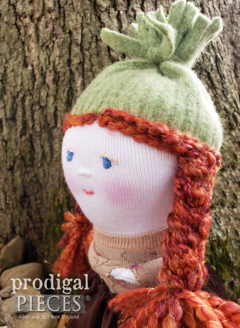 Redhead Sock Doll | Handmade by Prodigal Pieces | shop.prodigalpieces.com #prodigalpieces