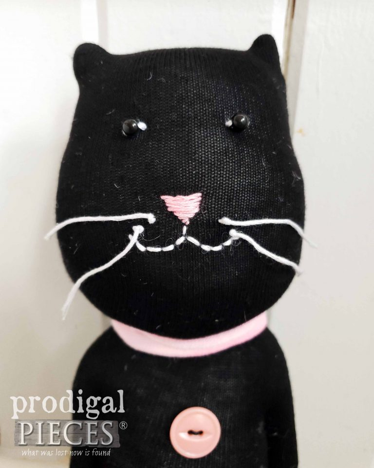 Black Sock Cat Doll by Larissa of Prodigal Pieces | shop.prodigalpieces.com