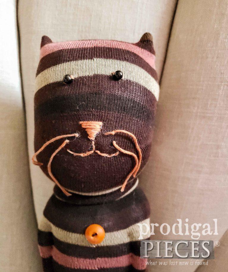 Brown Sock Cat Face | shop.prodigalpieces.com