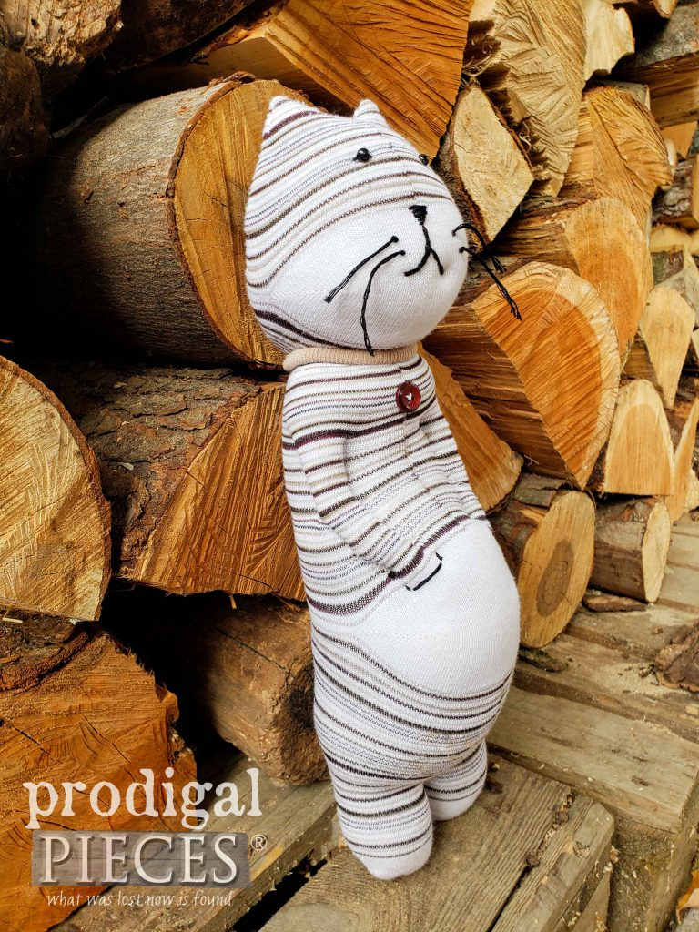 Handmade Sock Cat with Catitude by Prodigal Pieces | shop.prodigalpieces.com #prodigalpieces