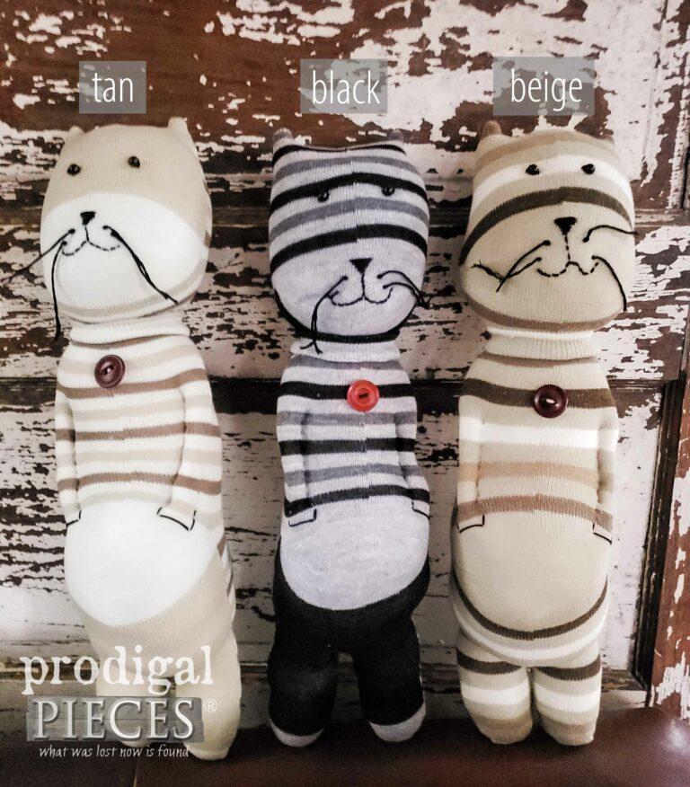 Neutral Cat Sock Doll Choices | shop.prodigalpieces.com #prodigalpieces