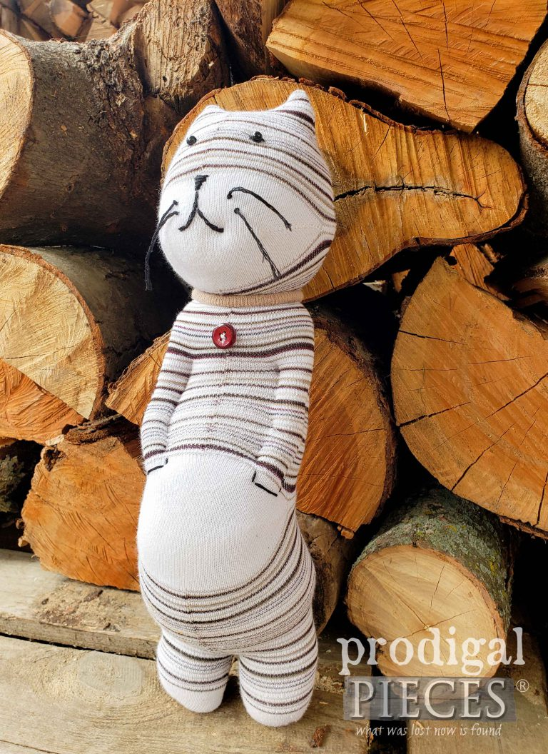 Catitude Sock Doll by Larissa of Prodigal Pieces | shop.prodigalpieces.com #prodigalpieces