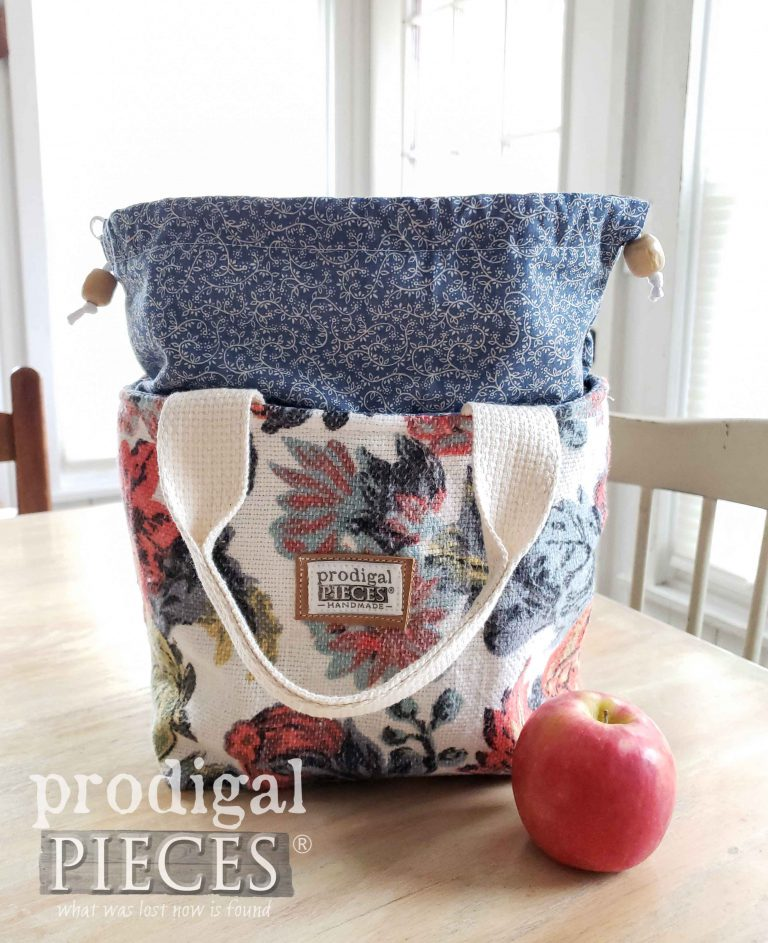 Open Blue Tapestry Insulated Lunch Bag | shop.prodigalpieces.com