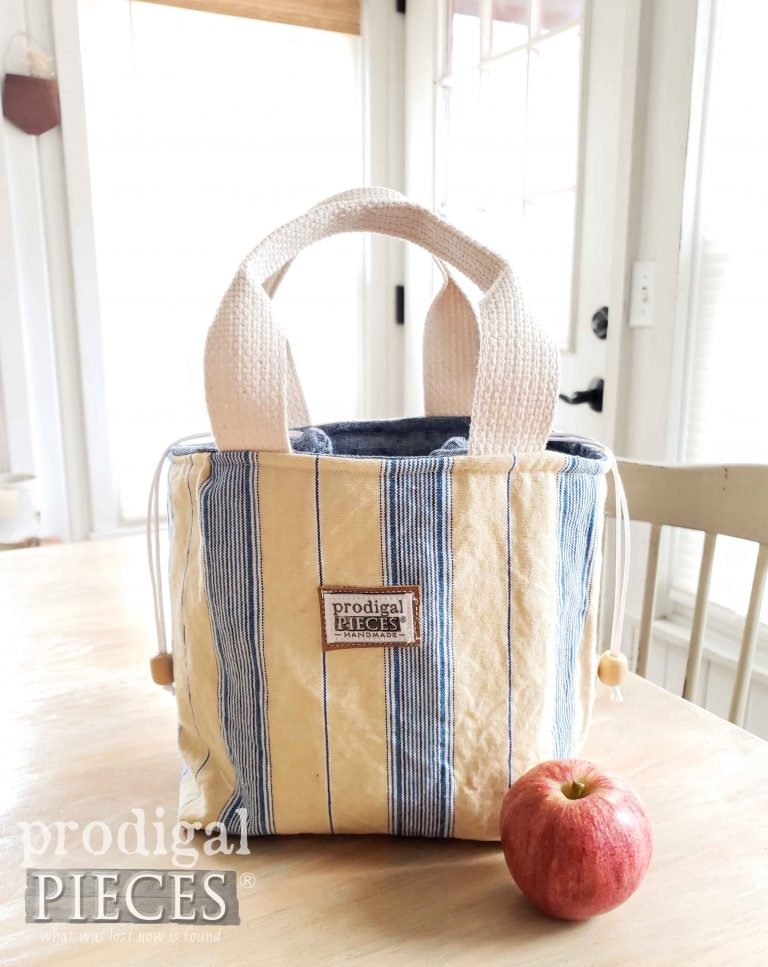 Yellow Stripe Insulated Lunch Bag | This style and more available at Prodigal Pieces | shop.prodigalpieces.com #prodigalpieces #shopping #style #fashion #bag