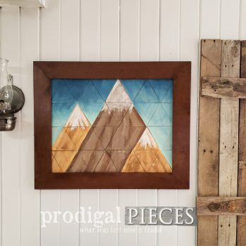 Rustic Farmhouse Mountain Wall Art | Home Decor by Larissa of Prodigal Pieces | shop.prodigalpieces.com #prodigalpieces #shopping #home #farmhouse #art #homedecor