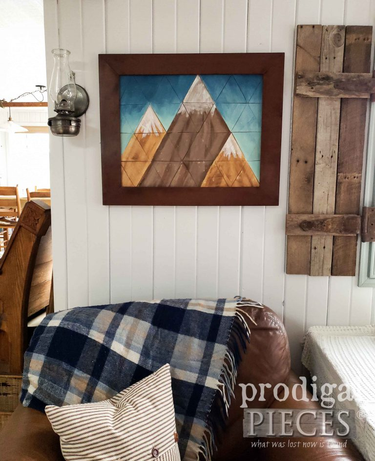 Handmade Rustic Farmhouse Mountain Wall Art | available at shop.prodigalpieces.com #prodigalpieces #home #shopping #farmhouse #home #homedecor
