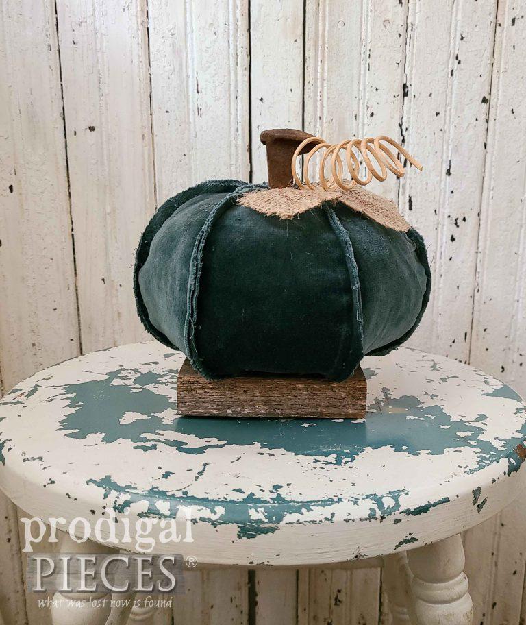 Green Velour Reclaimed Pumpkin | shop.prodigalpieces.com #prodigalpieces