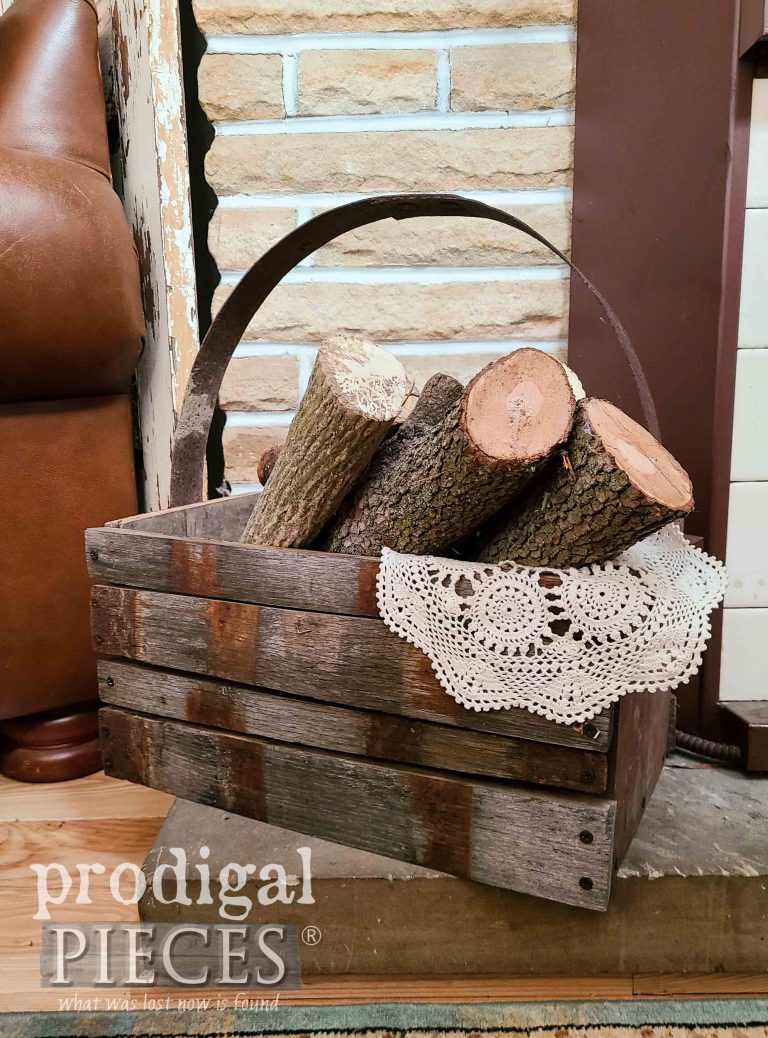 Farmhouse Style Reclaimed Whiskey Barrel Tote | shop.prodigalpieces.com