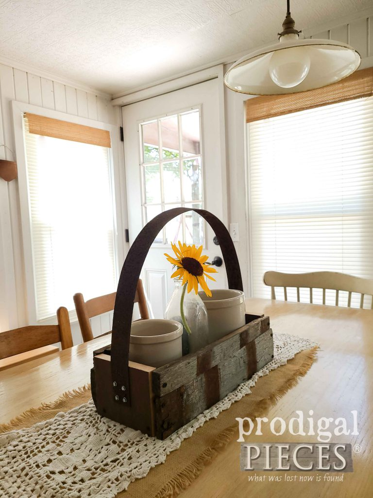 Reclaimed Farmhouse Whiskey Barrel Tote | shop.prodigalpieces.com