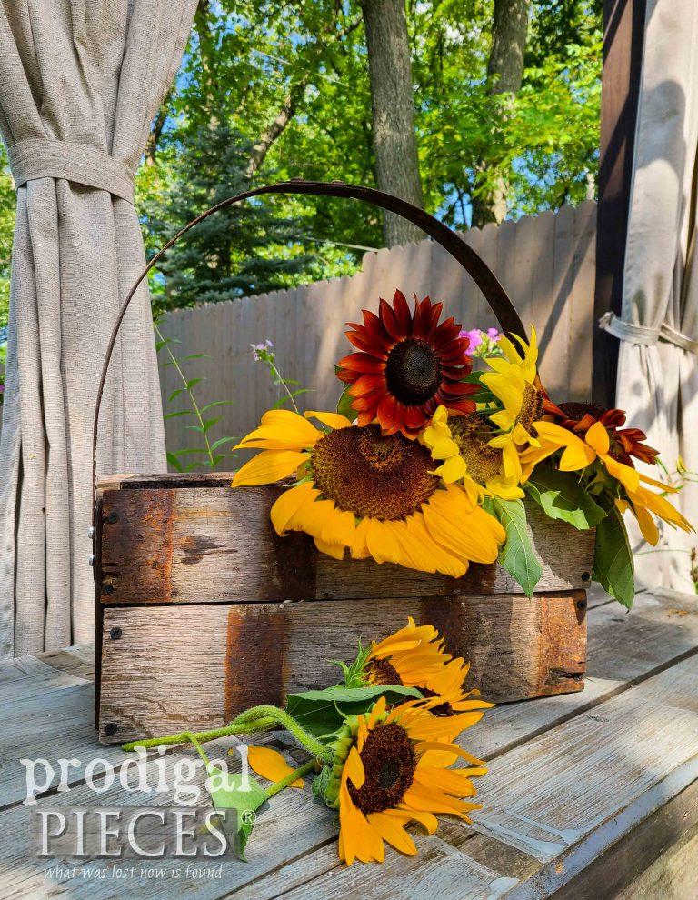 Handmade Whiskey Barrel Tote | 3 sizes available at Prodigal Pieces | shop.prodigalpieces.com #prodigalpieces #shopping #handmade #farmhouse #homedecor #home