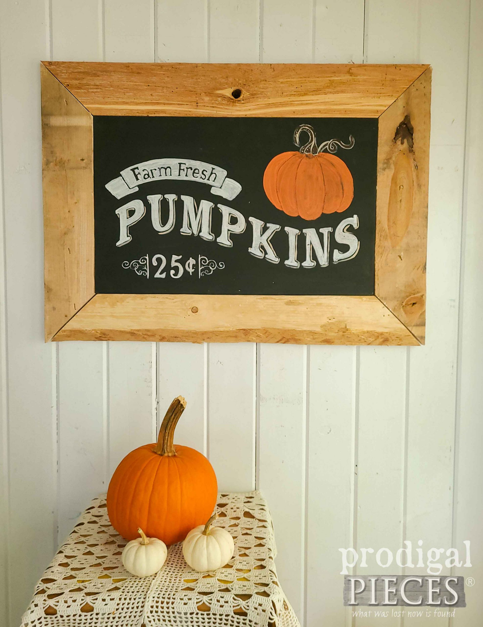 Chalkboard Harvest Sign by Prodigal Pieces | shop.prodigalpieces.com #prodigalpieces #fall #farmhouse #shopping #home #homedecor