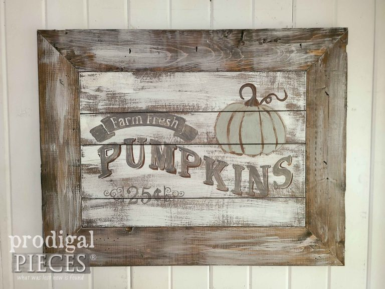 Farmhouse Chic Harvest Sign by Prodigal Pieces | shop.prodigalpieces.com #prodigalpieces