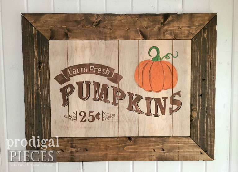 Rustic Farmhouse Style Harvest Sign by Prodigal Pieces | shop.prodigalpieces.com #prodigalpieces