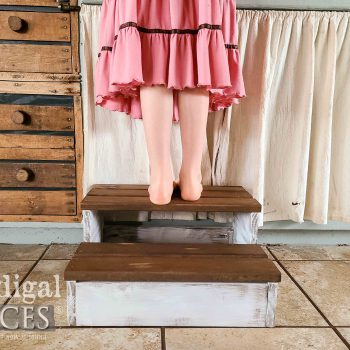 Rustic Wooden Step Stool by Larissa of Prodigal Pieces | available at shop.prodigalpieces.com #prodigalpieces #shopping #handmade #furniture #home #homedecor