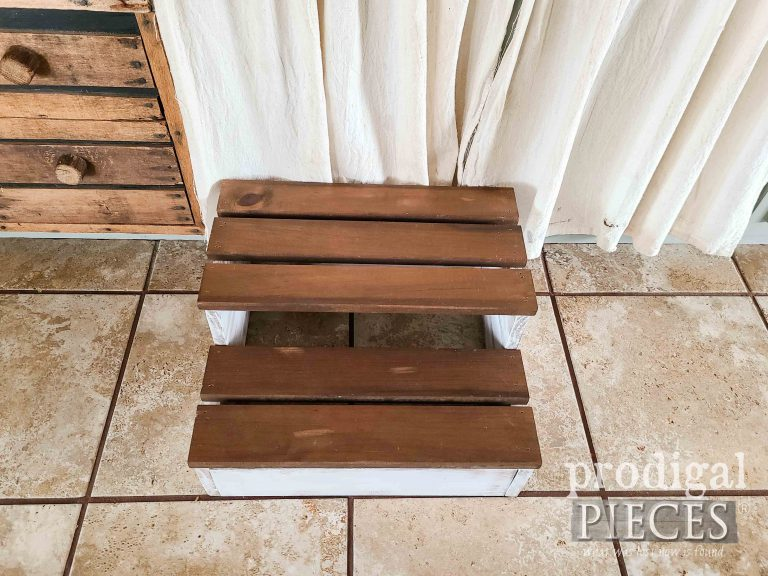 Farmhouse Style Wooden Step Stool by Prodigal Pieces | shop.prodigalpieces.com