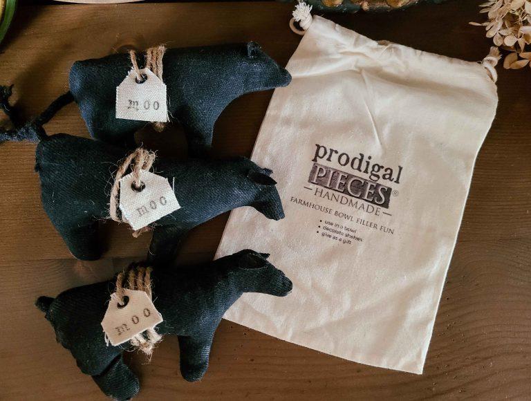 Black Angus Cow Farmhouse Bowl Filler by Larissa of Prodigal Pieces | shop.prodigalpieces.com #prodigalpieces