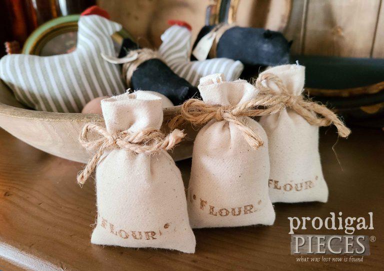 Farmhouse Mini Flour Sack Bowl Filler Set by Prodigal Pieces | shop.prodigalpieces.com