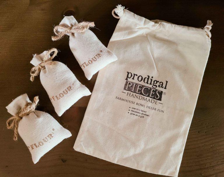Farmhouse Flour Sack Bowl Filler Set by Larissa of Prodigal Pieces | shop.prodigalpieces.com #prodigalpieces