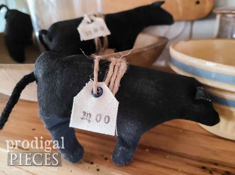 Handmade Black Cow Farmhouse Bowl Filler by Prodigal Pieces | shop.prodigalpieces.com