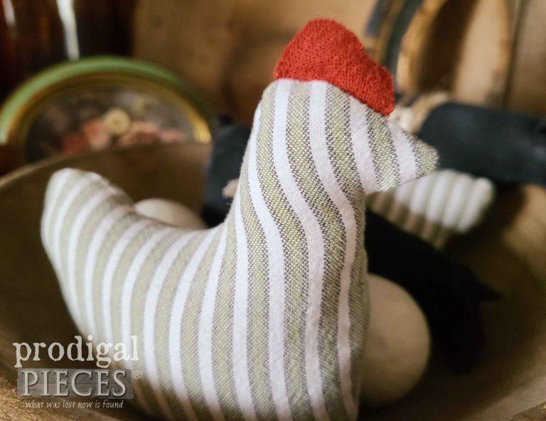 Striped Stuffed Chicken Bowl Filler Doll | Prodigal Pieces | shop.prodigalpieces.com