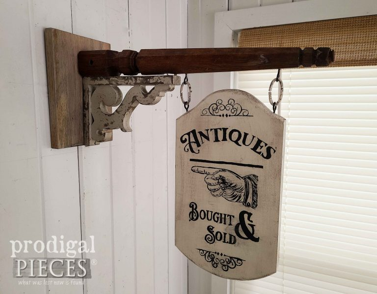 Reclaimed Antiques Sign by Larissa of Prodigal Pieces | shop.prodigalpieces.com