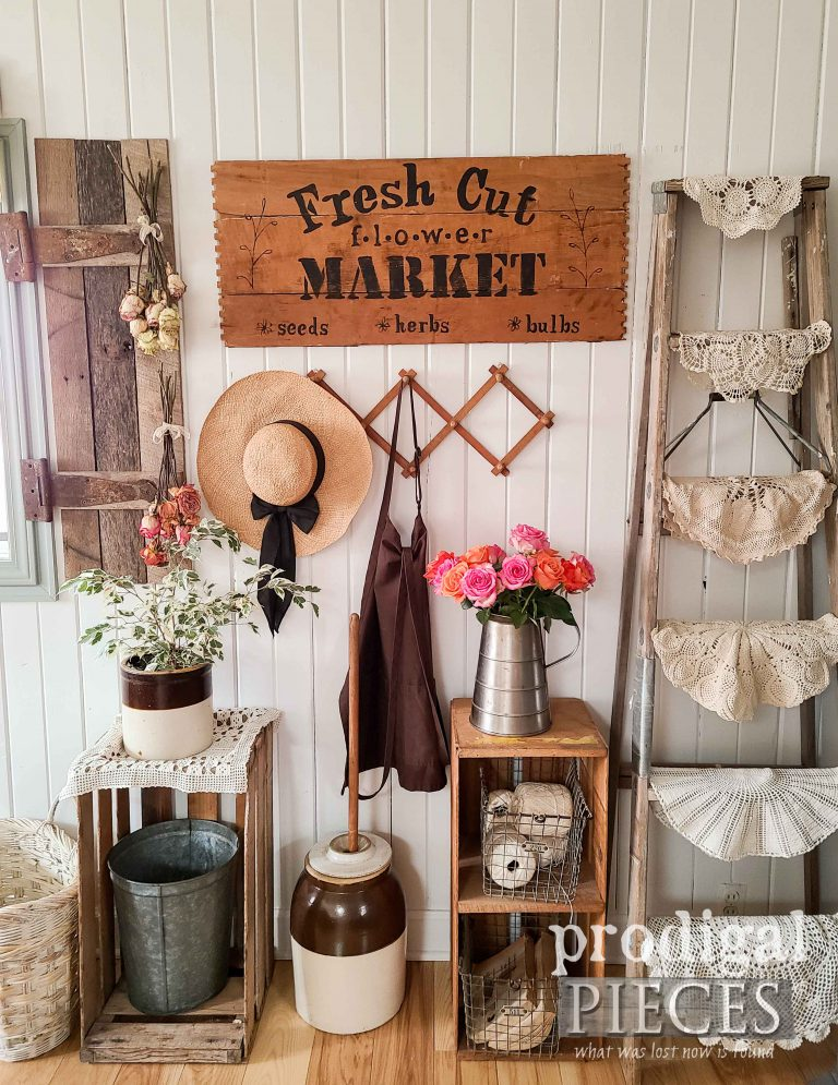 Farmhouse Flower Market Sign by Larissa of Prodigal Pieces | shop.prodigalpieces.com #prodigalpieces