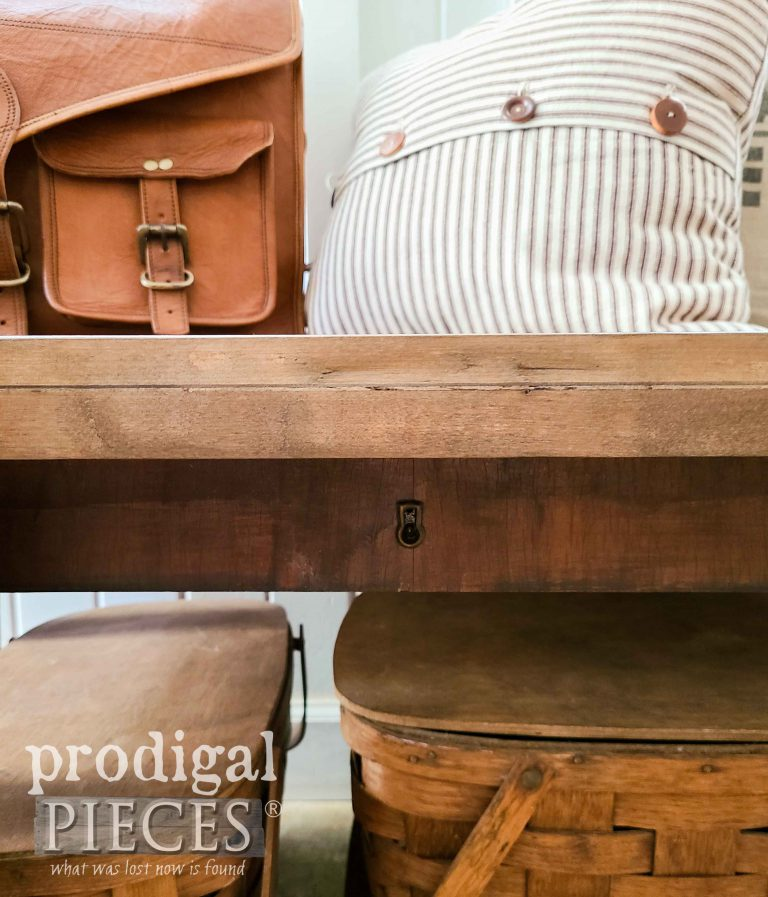 Reclaimed Drawer Fronts on Bench | shop.prodigalpieces.com