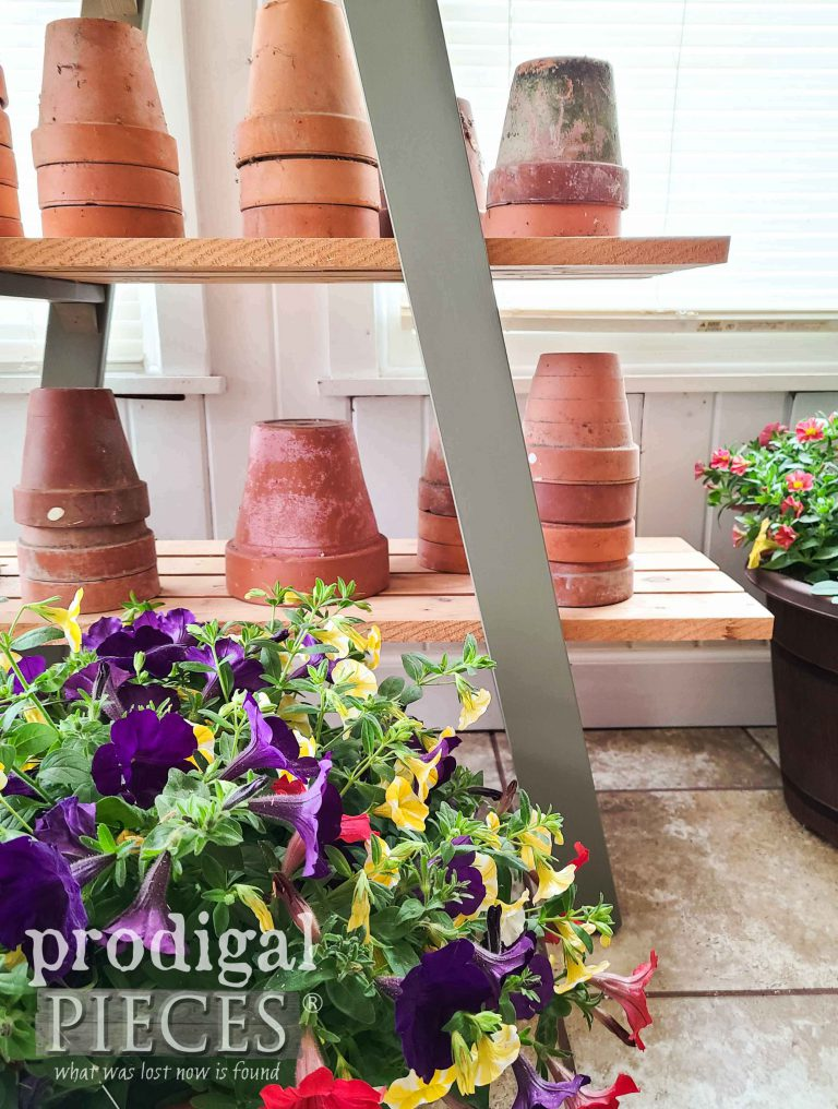 Garden Style Decor with this Tiered Ladder Stand | shop.prodigalpieces.com