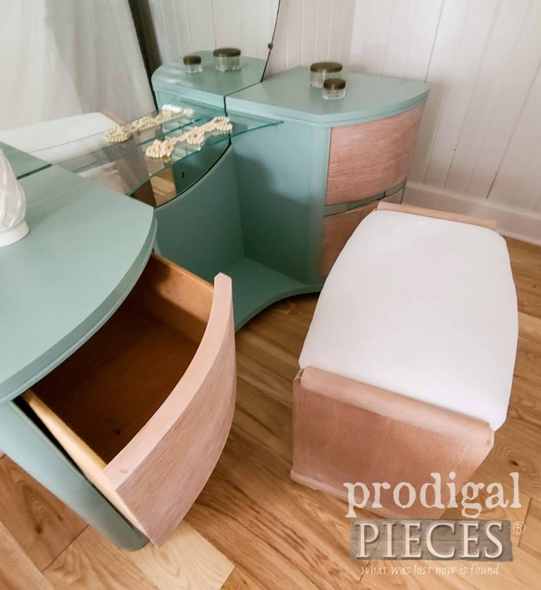 Open Drawer of Dressing Table by Prodigal Pieces | shop.prodigalpieces.com
