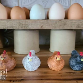 Handmade Miniature Clay Hen Figurines by Prodigal Pieces | available at shop.prodigalpieces.com #prodigalpieces