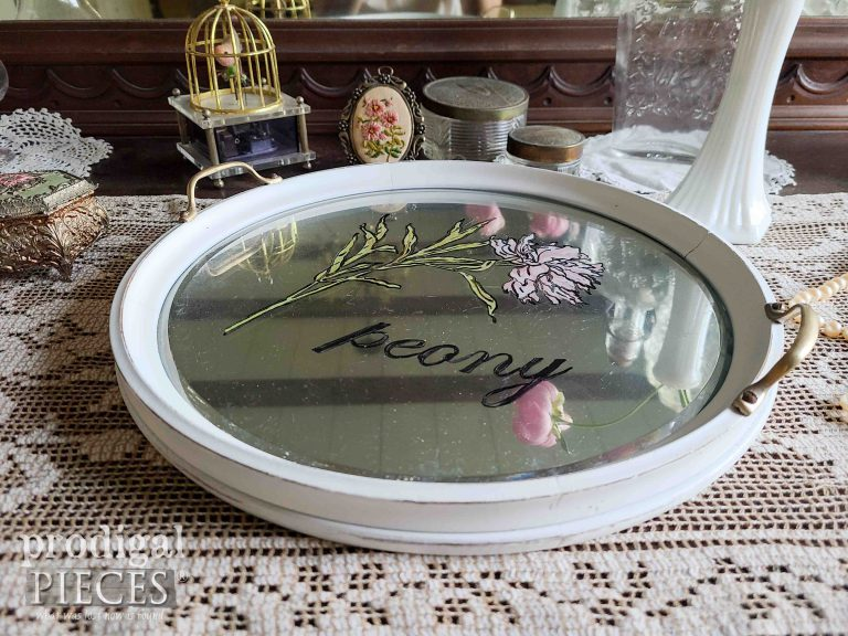 Vintage Mirrored Serving Tray | shop.prodigalpieces.com