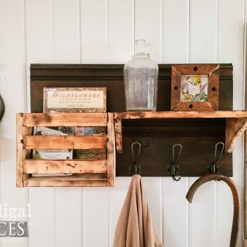 Reclaimed Wood Shelf with Wire Hooks at Prodigal Pieces | shop.prodigalpieces.com