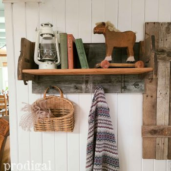 Farmhouse Shelf Rack with Shaker Pegs available at Prodigal Pieces | shop.prodigalpieces.com #prodigalpieces #shopping #farmhouse #diy #reclaimed