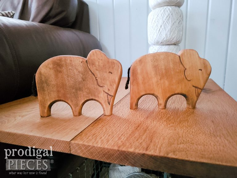 Hand-Carved Wooden Elephants Made by Larissa of Prodigal Pieces   available at shop.prodigalpieces.com #prodigalpieces #shopping #handmade #elephants